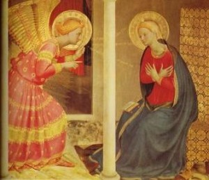 the annunciation 300x259 Mary in the Mind of the Early Church Fathers
