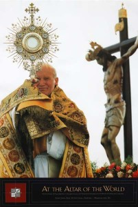 john paul ii with monstrance 201x300 Eucharistic Adoration